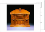 Carved Mahogany, Oak and Marquetry Server by Louis Majorelle