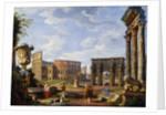 A Capriccio View of Rome by Giovanni Paolo Panini