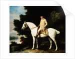 Painting of a Gentleman on a Horse by George Stubbs