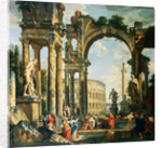 A Capriccio of Classical Ruins by Giovanni Paolo Panini