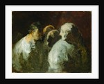 Four People by Honore Daumier