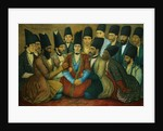 A Young Qajar Prince and His Entourage by Abu'l Hasan