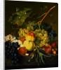 Fruit Still Life on a Marble Ledge by Jan van Huysum