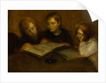 Girls Reading by Eugene Carriere