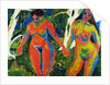 Two Nude Women in the Forest by Ernst Ludwig Kirchner