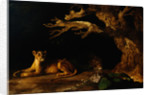 Lioness and Lion in a Cave by George Stubbs
