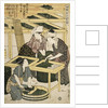 Print Depicting Women Cutting Mulberry Leaves from Silkworm Culture by Women by Utamaro