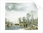 Winter Landscape with Ice Skaters by Jan van de Cappelle