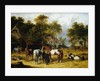 Horses, Cattle, Pigs and Chickens in a Farmyard by John Frederick Herring