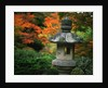 Stone Lantern in the Japanese Tea Garden at the University of Washington Arboretum by Corbis