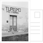 Dog Guarding a Tourist Office by Corbis