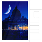 St. Peter's Basilica at Night by Corbis