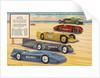 Famous Speed Racers on the Measured Mile, Daytona Beach, Florida Postcard by Corbis