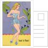 Drawing of Woman Wearing Short Dress by Corbis