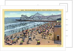 Cyclone Racer and Crowd at Beach by Corbis