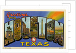 Greetings from Houston, Texas Postcard by Corbis