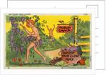 Cartoon of a Nudist Camp by Corbis