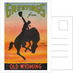 Greetings from Old Wyoming Postcard by Corbis