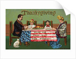 Give Us This Day Our Turkey Postcard by Corbis