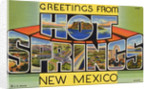 Postcard of Hot Springs, New Mexico by Corbis