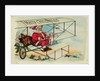 Postcard of Santa Claus Flying a Biplane by Corbis