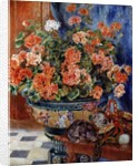 Geraniums and Cats by Pierre-Auguste Renoir