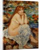 Bather Seated on a Sand Bank by Pierre-Auguste Renoir
