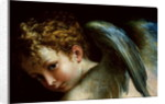 Detail of Cupid's Head from Cupid Shaping His Bow by Parmigianino