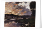 Seine at Bougival, Evening by Claude Monet