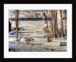 A Morning Snow, Hudson River by George Wesley Bellows