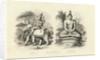 Engraving of Indra and Gautama Buddha by Corbis