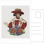 Manuscript Illumination of a King by Corbis
