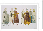 Print Depicting Emperor Justinian and Empress Theodora with Attendants by Corbis