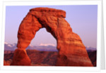 Delicate Arch and Surrounding Mountains by Corbis