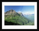 Glaciated Mountain Peaks and Valley by Corbis