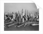 Aerial View of Downtown New York City with Harbor by Corbis