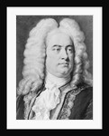 Drawing of Composer George Frederick Handel by Corbis