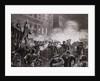 Illustration of Haymarket Riot in Chicago by T. de Thulstrup