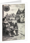 Illustration of Early Settlers in New York Region by Corbis