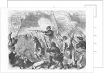 Giuseppe Garibaldi Fighting with His Troops by Corbis