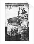 Ancient Beer Maker Stirring Mixture by Corbis