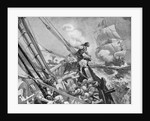 Pirate Ship in Pursuit of Merchant Vessel with Booty by Corbis