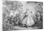 Illustration Depicting Gracious Ballet Dancer by Corbis