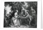 Aristocrats Playing Tric-Trac by Corbis