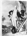 Illustration of George Washington Standing Next to Cannon by Corbis