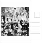 Collage Type Drawing of the Constitution Meeting by Corbis