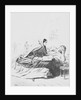 Drawing of Florence Nightingale Scripting a Soldier's Letter by Corbis