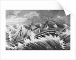 Illustration of Ship in Storm by Corbis