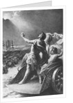 Constantine the Great Gazing at Sky by Corbis