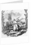 Illustration Depicting Mohammed Holding Sword and Koran by Corbis